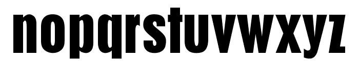 OPTIPilsenBold-Cond Font LOWERCASE