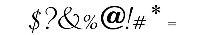 OPTIPiranesi-Italic Font OTHER CHARS