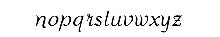 OPTIPiranesi-Italic Font LOWERCASE