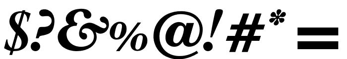 OPTIPlanet-BoldItalic Font OTHER CHARS