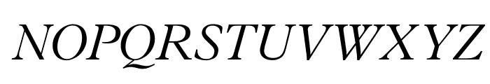 OPTIPlanetLight-Italic Font UPPERCASE