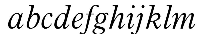 OPTIPlanetLight-Italic Font LOWERCASE