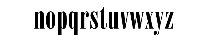OPTIPosterBodoni-Compr Font LOWERCASE