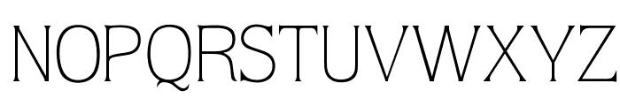 OPTIQuarkLight Font UPPERCASE