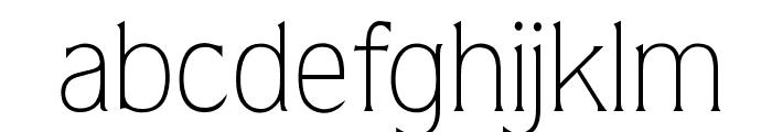 OPTIQuarkLight Font LOWERCASE