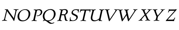 OPTIQuezonBook-Italic Font UPPERCASE