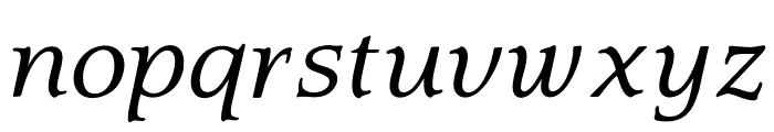 OPTIQuezonBook-Italic Font LOWERCASE