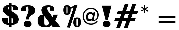 OPTIRadiant-ExtraBold Font OTHER CHARS