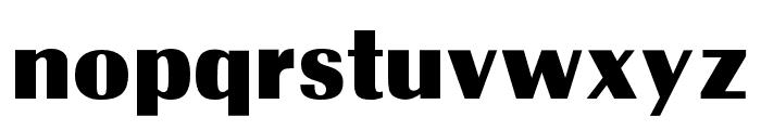 OPTIRadiant-ExtraBold Font LOWERCASE