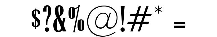 OPTIRadiant-MediumCond Font OTHER CHARS