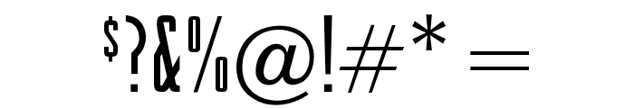 OPTIRaleigh-Gothic Font OTHER CHARS