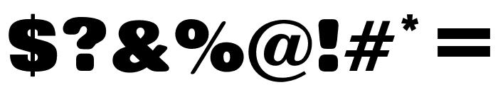 OPTIRollingExtraBoldNoOne Font OTHER CHARS