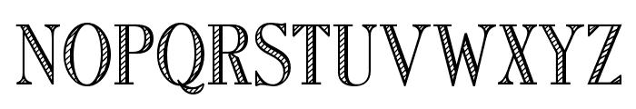 OPTIRomanC-Shaded Font UPPERCASE