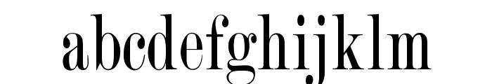 OPTIRomanCompressed Font LOWERCASE