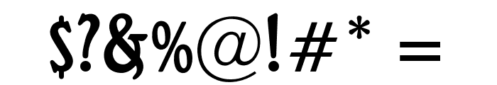 OPTIRossano Font OTHER CHARS