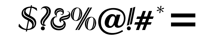 OPTIRoyal-Inline Font OTHER CHARS