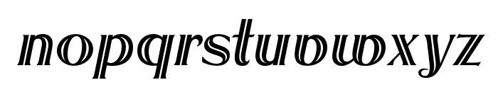 OPTIRoyal-Inline Font LOWERCASE