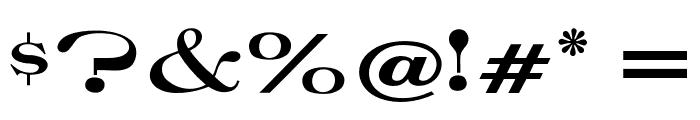 OPTIRoyal Font OTHER CHARS
