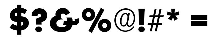 OPTISallyMae-ExtraBold Font OTHER CHARS