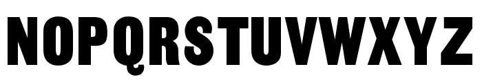 OPTISansSerifCondensedOne Font UPPERCASE