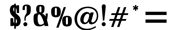OPTISchadowAntiquaBoldCond Font OTHER CHARS
