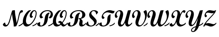 OPTIScript-Bold Font UPPERCASE