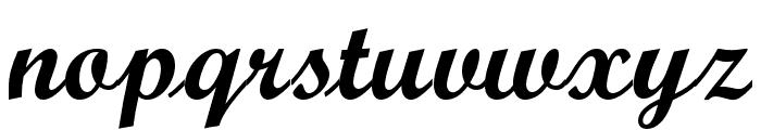 OPTIScript-Bold Font LOWERCASE