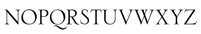 OPTISerlio Font UPPERCASE