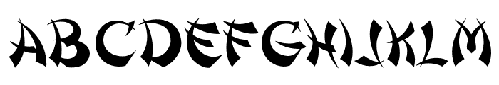 OPTIShanghai Font UPPERCASE