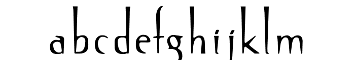 OPTISin-Regular Font LOWERCASE