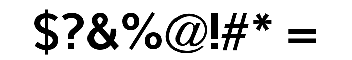 OPTISintax-Bold Font OTHER CHARS