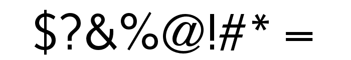 OPTISintax-Light Font OTHER CHARS