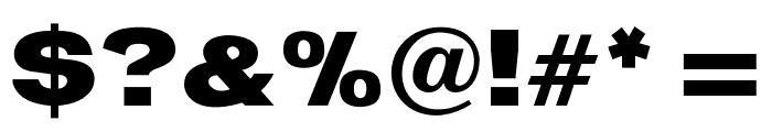 OPTIStainesXtraBoldExtend Font OTHER CHARS