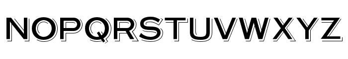 OPTISteelplateGothic-Shade Font UPPERCASE