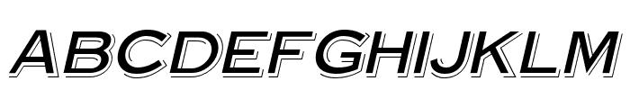 OPTISteelplateGothic-ShadeObl Font UPPERCASE