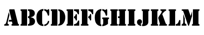 OPTIStencil-Bold Font UPPERCASE