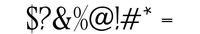 OPTIStevas-Light Font OTHER CHARS