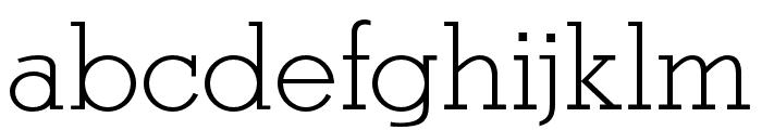OPTIStymie-Light Font LOWERCASE