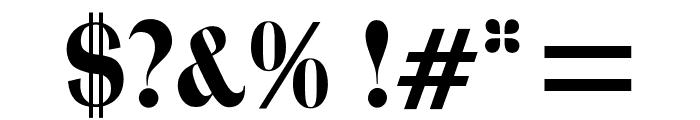 OPTITrimRoman Font OTHER CHARS
