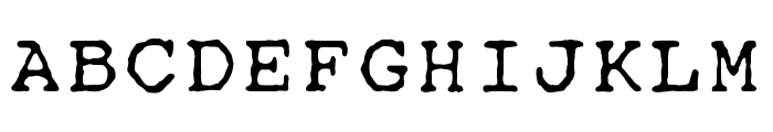 OPTITypewriter-Special Font UPPERCASE