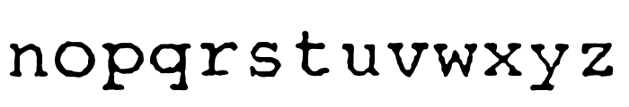 OPTITypewriter-Special Font LOWERCASE