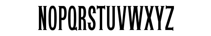 OPTIUnisymieCaps-BoldCond Font UPPERCASE