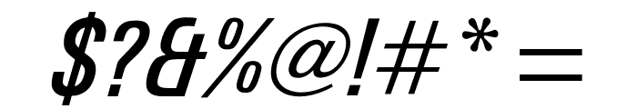 OPTIUniversFiftyEight Font OTHER CHARS