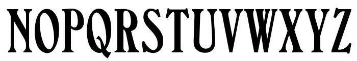 OPTIValleyForge-Compressed Font UPPERCASE