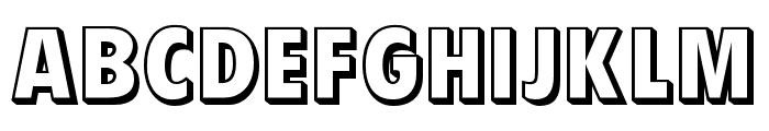 OPTIVanDyke-Outline Font UPPERCASE