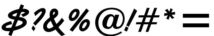 OPTIVanilla-Bold Font OTHER CHARS