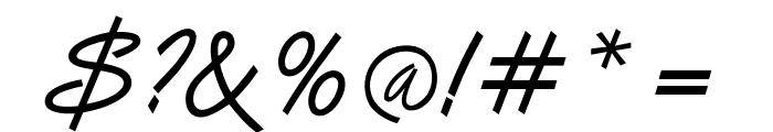 OPTIVanilla Font OTHER CHARS