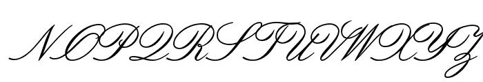 OPTIVenetian-Script Font UPPERCASE