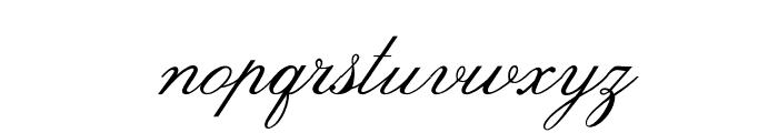 OPTIVenetian-Script Font LOWERCASE