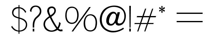 OPTIVenus-Light Font OTHER CHARS